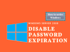 Disable password expiration in windows 2008