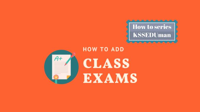 Add class exam